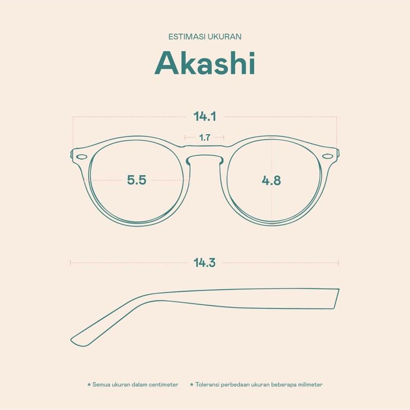 Frame Kacamata Akashi