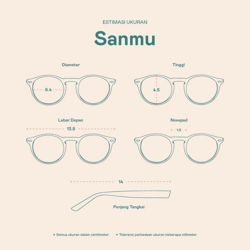 Frame Kacamata Sanmu (CAT EYE)
